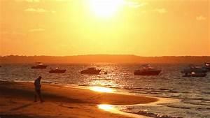 Man Walking Alone At The Beach - Sunset - Full HD Man ...