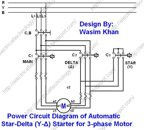 the star delta y δ 3 phase motor starting method by
