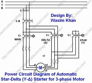Star Delta Automatic Starter Wiring Diagram