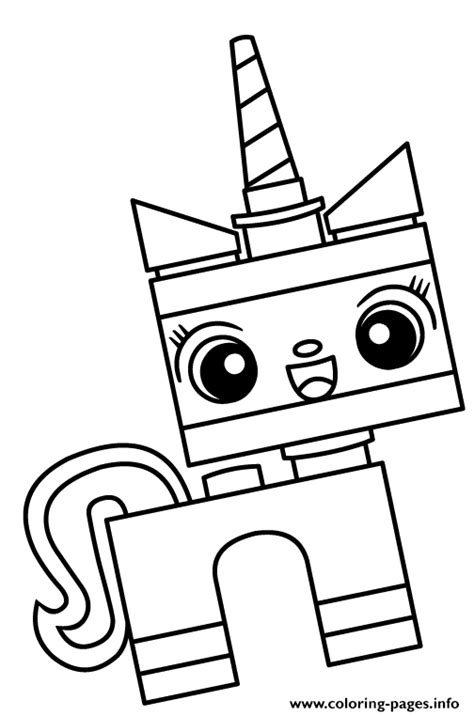 unikitty unicorn cat coloring pages printable