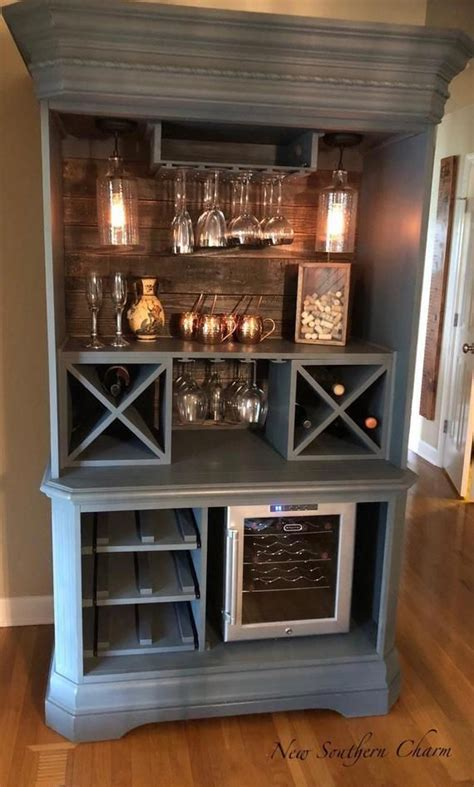 custom armoire bar cabinet coffee station wine cabinet
