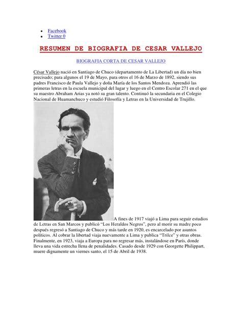 biografia de cesar vallejo
