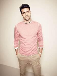 Pink sweater plaid shirt khakis | Men and Style | Pinterest | Chunky knit cardigan Oak street ...