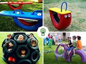 Jeux Exterieur Bois Enfant : jeux pour enfants en pneus 1001pneus le blog ~ Premium-room.com Idées de Décoration