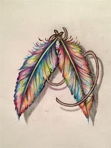 Colorful Feather Tattoos Tumblr Colorful feath | Great ...