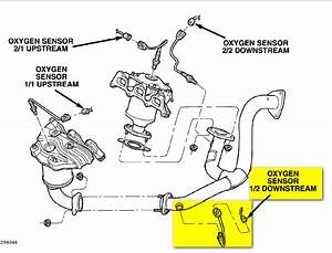 I Got A Check Engine Code 138  I Know It The Oxygen Sensor But Where Exactly Is It On My 04