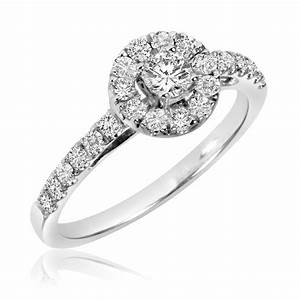 1 ct tw diamond ladies39 bridal wedding ring set 10k With 10k white gold wedding ring set