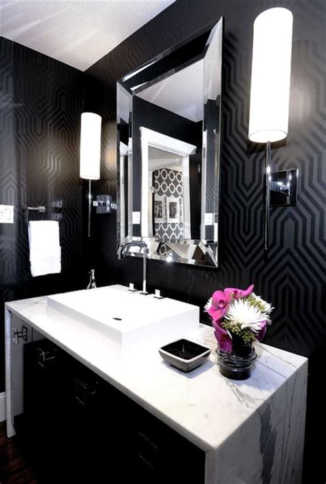 glam bathroom ideas mallin cres powder room contemporary bathroom