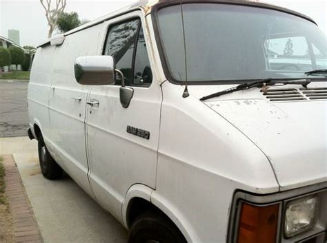 sell used 1992 dodge ram van white normal wear and tear in fountain valley california sell used 1992 dodge ram van white normal wear and tear in fountain valley california