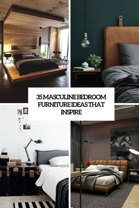 manly bedroom furniture masculine furniture archives digsdigs