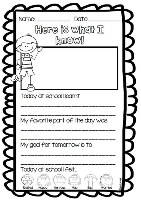grade reflection journal  quick  simple