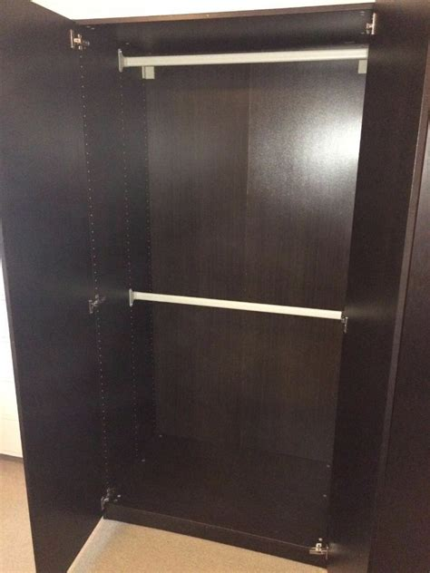 Black Brown Wardrobe Sale by Ikea Pax Black Brown Wardrobe With Two Modules Rails And