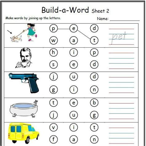 cvc work sheets activity sheets consonant vowel kids