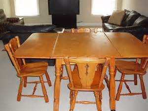 maple drop leaf table and 4 chairs for sale antiques