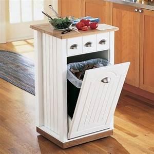 Meuble Poubelle Cuisine : poubelle de cuisine 5 alternatives pour la cacher ~ Dallasstarsshop.com Idées de Décoration
