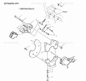 Polaris Atv 2003 Oem Parts Diagram For Rear Caliper