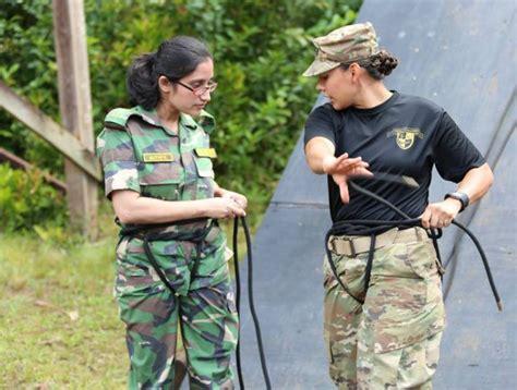 female bangladesh officers  hands  training