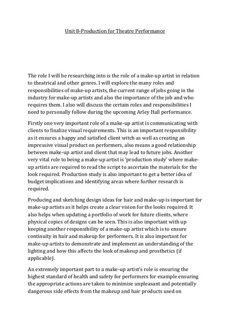 Cosmetology Career Essays by Essay Of A Makeup Artist