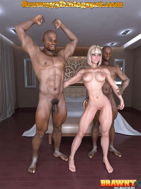 Brawny 3d Big Black Guys Fucking Young Blonde Fitness Girl