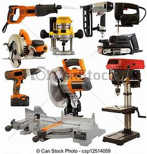 Stock Images of Power Tools Isolated on a White Background