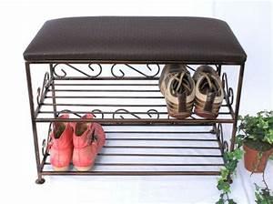 Schuhregal Mit Bank : schuhregal mit sitzbank bank 60cm schuhschrank aus metall schuhablage dandibo ~ Sanjose-hotels-ca.com Haus und Dekorationen