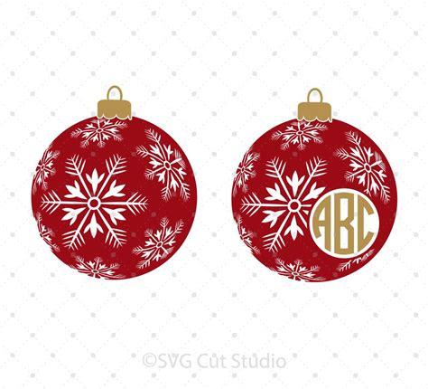 Christmas Tree Ornament Svg  – 400+ SVG File for Silhouette