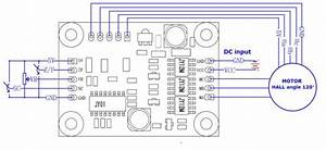 Hall Effect 3 Phase Brushless Dc Motor Driver Rotating
