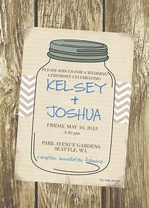 rustic mason jar wedding invitation diy by tinytoaddesigns With free printable wedding invitations mason jars