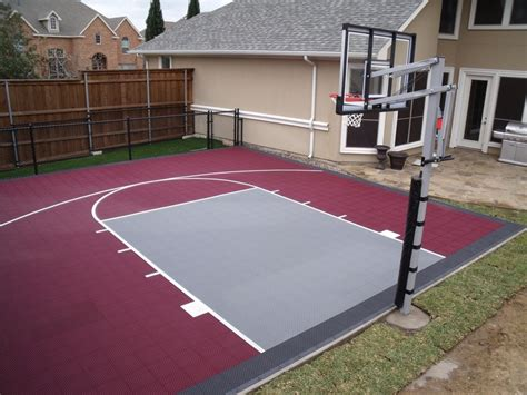 How Much Does A Backyard Basketball Court Cost by Backyard Basketball Court Outside Projects