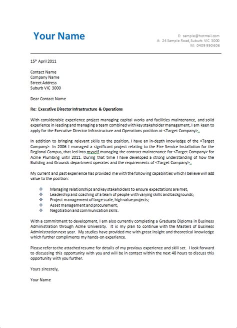 cover letter format creating  executive cover letter