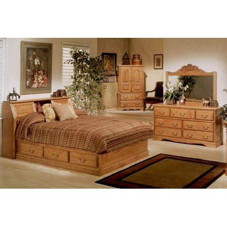 Bedroom Set With Bookcase Headboard by 4 Pc Pier Bookcase Headboard Bedroom Set Walmart