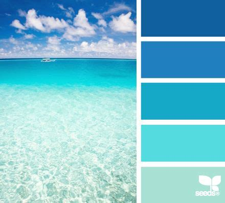 create a mental vacation with paint colors inspired by the sea a range of blue to green hues