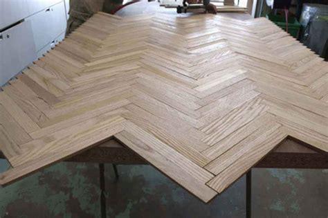 herringbone wood dining table designsponge