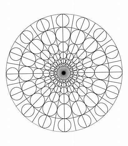 Mandala Mandalas Coloring Circles Geometric Patterns Pages