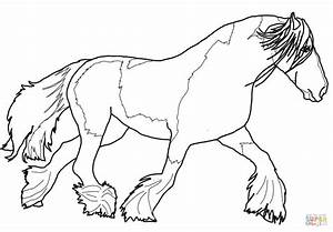 color page horse - paint horse coloring pages
