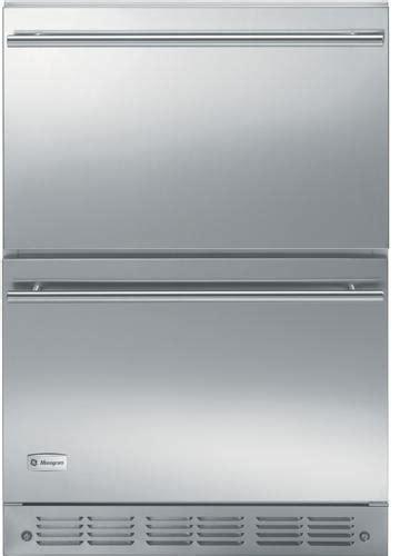 monogram zidxhxx   built  double drawer compact refrigerator   cu ft