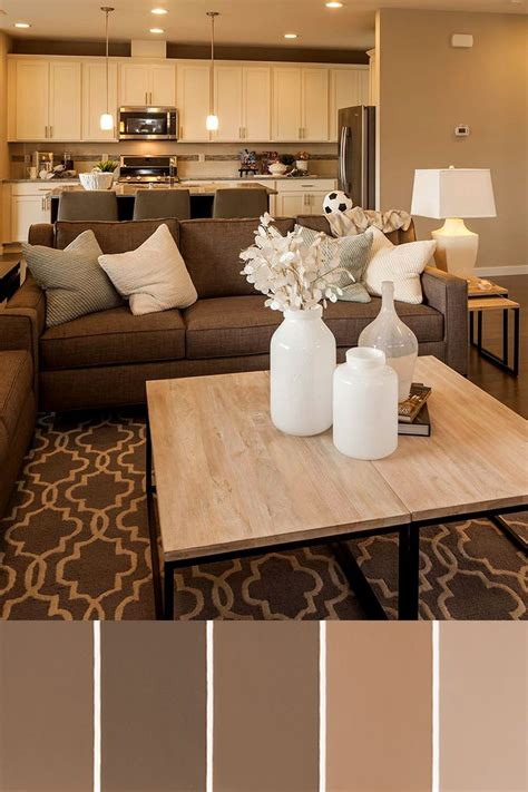 brown sofa living room decor living room amazing color schemes for small living rooms