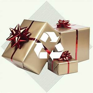 Best Recycle Christmas Gift With Silver And Maroon Covers