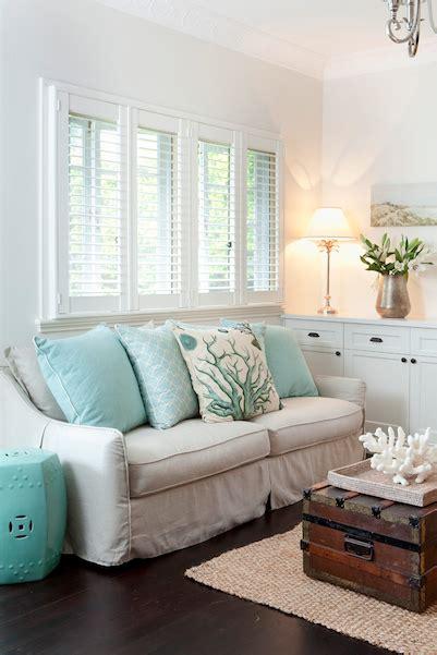 Aqua Accent Table  Cottage  Living Room Porchlight