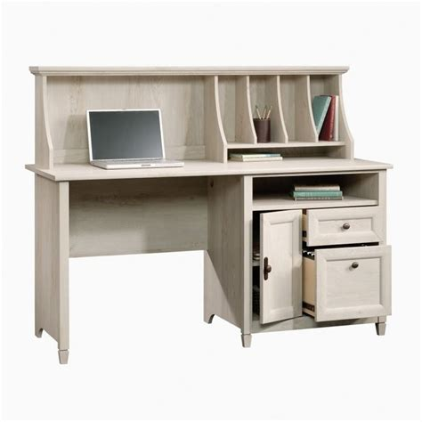 computer desk with hutch in chalked chestnut 419088