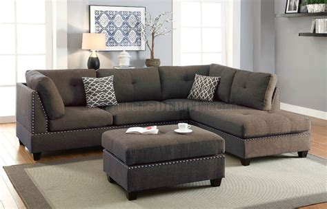 Loveseat Sectional Sofa by F6975 Sectional Sofa In Linen Like Fabric By W Ottoman