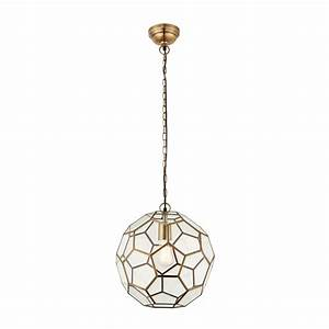 Endon lighting miele single light ceiling pendant in