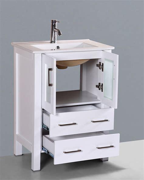 white 24in integrated sink single vanity by bosconi boaw124u