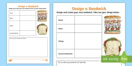step sequencing cards making  sandwich twinkl