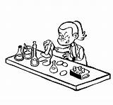 Lab Technician Coloring Laboratorio Dibujos Milo Colored Coloringcrew Dibujo sketch template