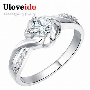 uloveido one piece fianit costume c jewelry jewelry rings With costume jewelry wedding rings