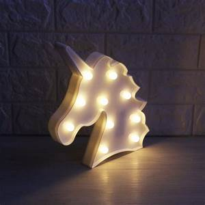 Lumiparty 3D Unicorn Marquee Light with 10 Warm White LED