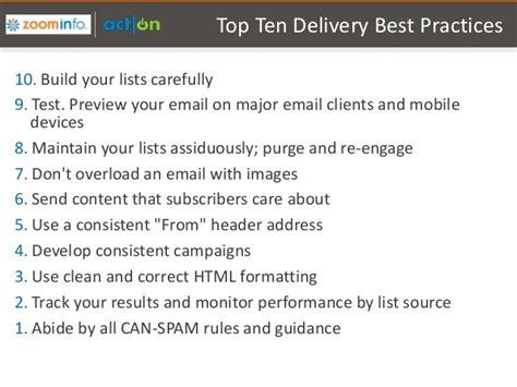 practises  list building  deliverability