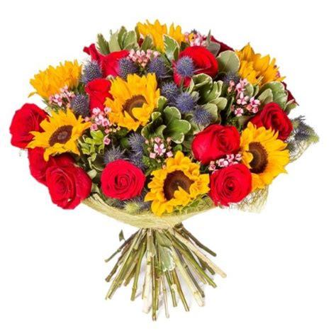 christmas shopping pic blumenstrauß mit roten rosen und sonnenblumen italian flora