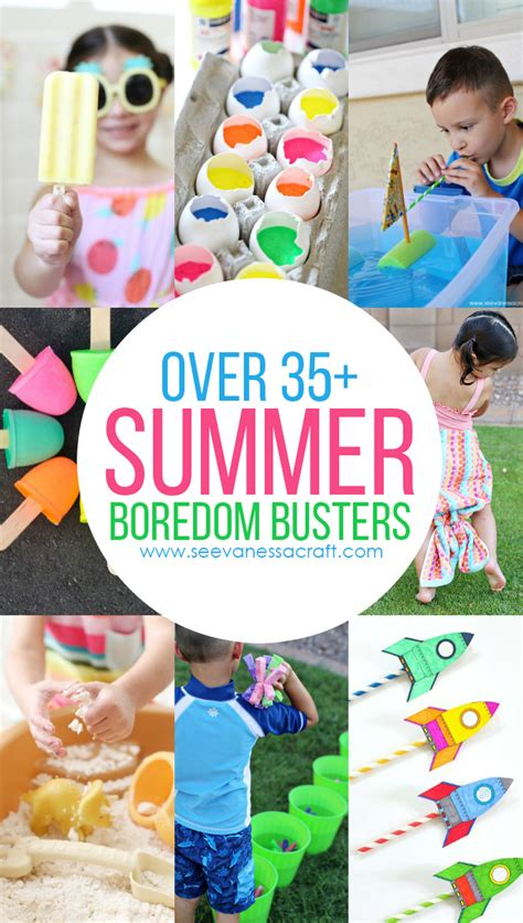 Over 35 Fun Summer Boredom Buster Ideas for Kids